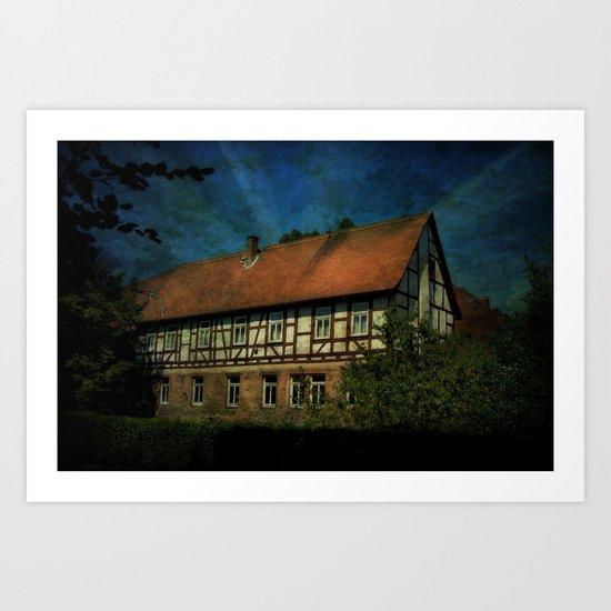 Fachwerkhaus Art Print
