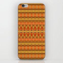 Lush Neo Tribal Boho Warm Orange Gold Pulse Print iPhone Skin