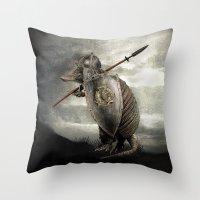 eric fan Throw Pillows featuring Armadillo by Eric Fan & Viviana González by Eric Fan
