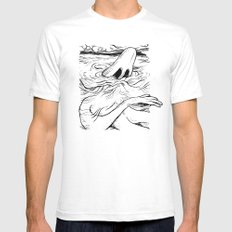 Breathe SMALL White Mens Fitted Tee