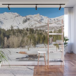 Adventure In The Snowy Mountains Wall Mural