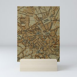 Vintage Limoges France Map (1895) Mini Art Print