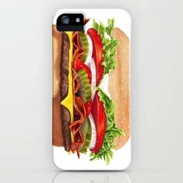 Bacon Cheeseburger by dana alfonso iPhone Case