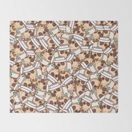 Puglie Pugkin Spice Latte Throw Blanket
