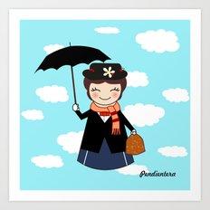 Kokeshi M.Poppins Art Print