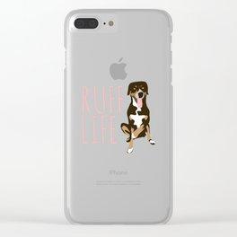 'Ruff Life' Dog 2 Clear iPhone Case