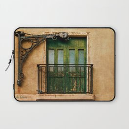Irish Town balcony, Gibraltar Laptop Sleeve