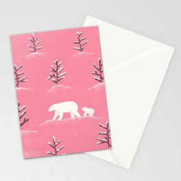 Bears in the snow Stationery Cards