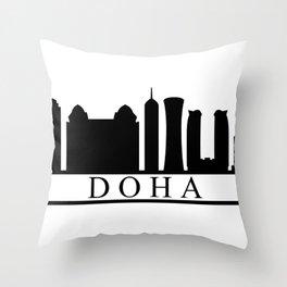 skyline doha Throw Pillow