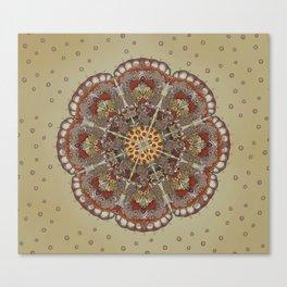 Pizza Cat Mandala Canvas Print