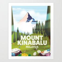 Mount Kinabalu Malaysia Art Print