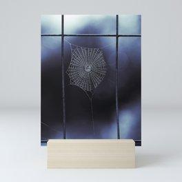Midnight Blue Spider Web Mini Art Print