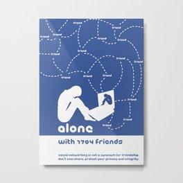 Friendship in the digital age Metal Print