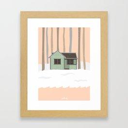 snow house Framed Art Print