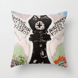 Duncan`s Horses Throw Pillow