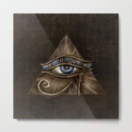 Egyptian Eye of Horus - Wadjet Digital Art Metal Print