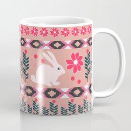 Ethnic decor with little bunnies Coffee Mug