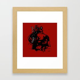 Dead pool Framed Art Print