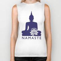 namaste Biker Tanks featuring Namaste by AleDan