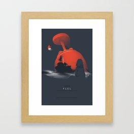 Nothing amazing happens here - poster version Framed Art Print