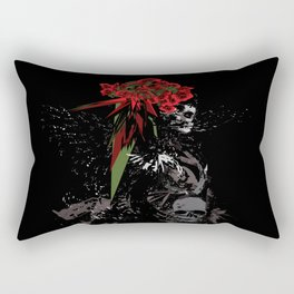 Skull Woman Rectangular Pillow