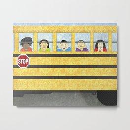 Big Yellow School Bus Metal Print