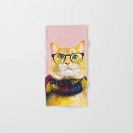 Bob the cat with glasses Hand & Bath Towel