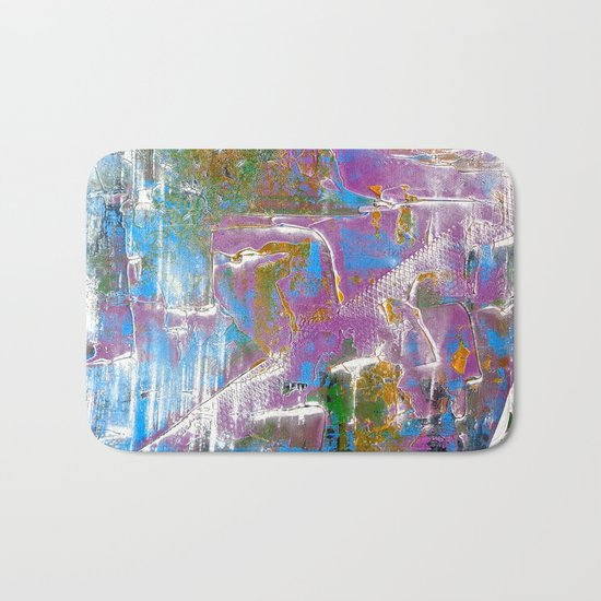 Sky Dive - colorful abstract painting. Bath Mat