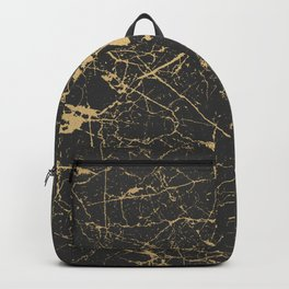 Marble Black Gold - Young Forever Backpack