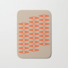 abstract eyes pattern orange tan Bath Mat