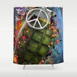 Peace Grenade Shower Curtain