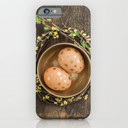 Golden eggs iPhone Case