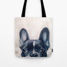 Hand painting French Bulldog Dog illustration original painting print Tote Bag