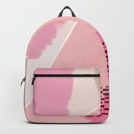 EMMA :: Modern Abstract Painting Brush Strokes Color Palette Light Pink Fuchsia Blush Pop Art Backpack