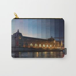 Musee d'Orsay Day to Night Timeslice - Paris Carry-All Pouch