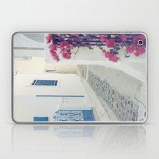 White Santorini Street Laptop & iPad Skin