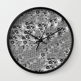 Flowers and Textiles Wall Clock