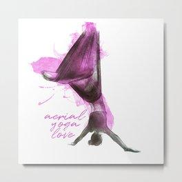 flying colors 03 // aerial. yoga. love. Metal Print