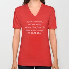 Bible Psalm 82:4 Unisex V-Neck