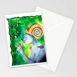 Snail queen colored Stationery Cards