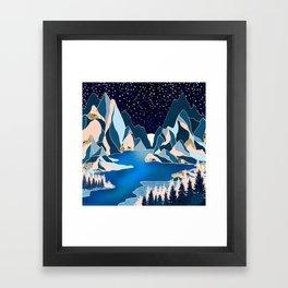 Star Peaks Framed Art Print