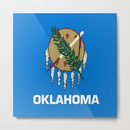 flag of oklahoma-Oklahoma,south,Oklahoman,Okie, usa,america,Tulsa,Norman,Broken Arrow Metal Print