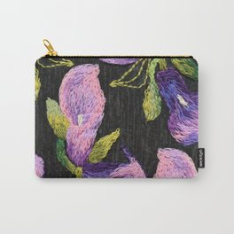 Embroidered callas Carry-All Pouch