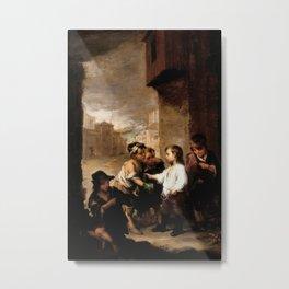 Bartolome Esteban Murillo - St Thomas of Villanueva Dividing His Clothes Among Beggar Boys Metal Print