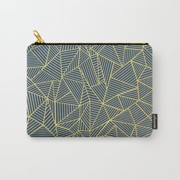 Ab Lines Gold and Navy Carry-All Pouch
