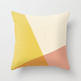 Minimalistic Geometric Intersection Throw Pillow