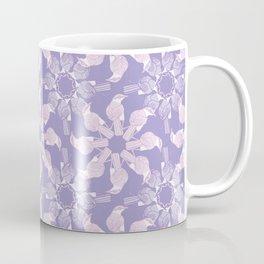 Purple Bird Medallion Pattern Coffee Mug
