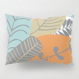 Bright Tropical Leaf Retro Mid Century Modern Pillow Sham