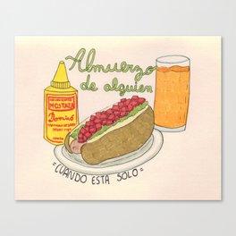 Completo chileno Canvas Print