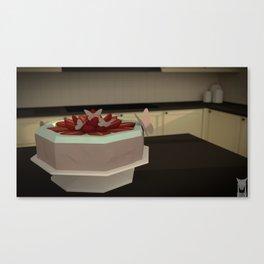 low poly - pie Canvas Print